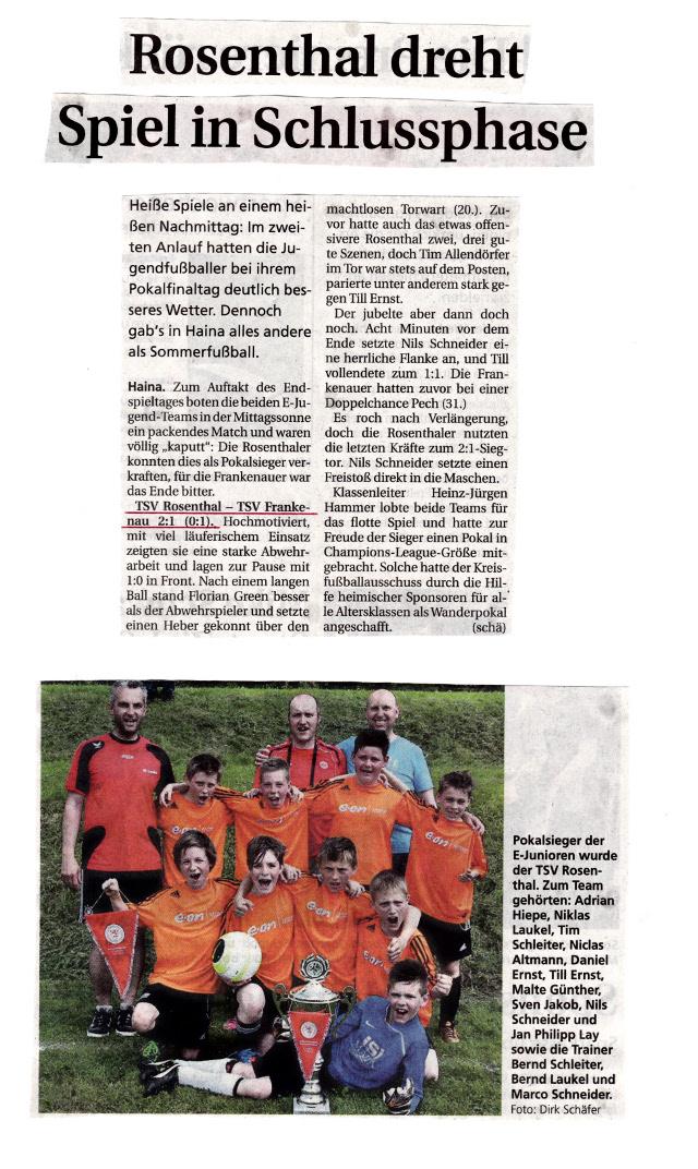 3.1 Kreispokal E Jugend 2013