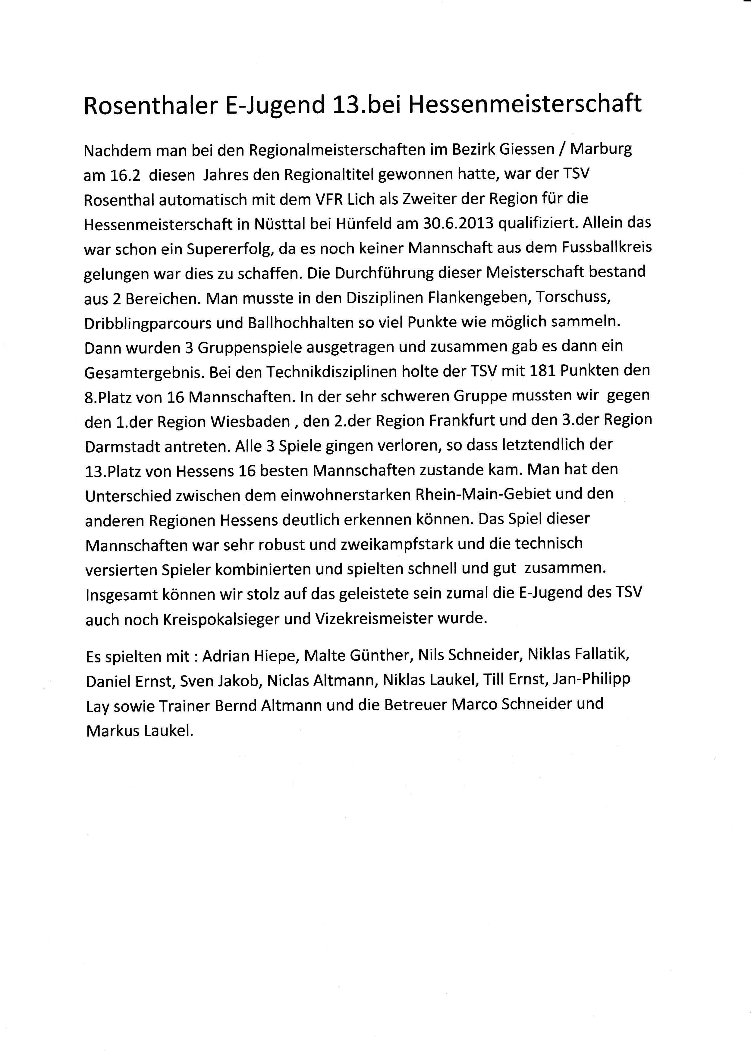 Bericht von der Hessenmeisterschaft