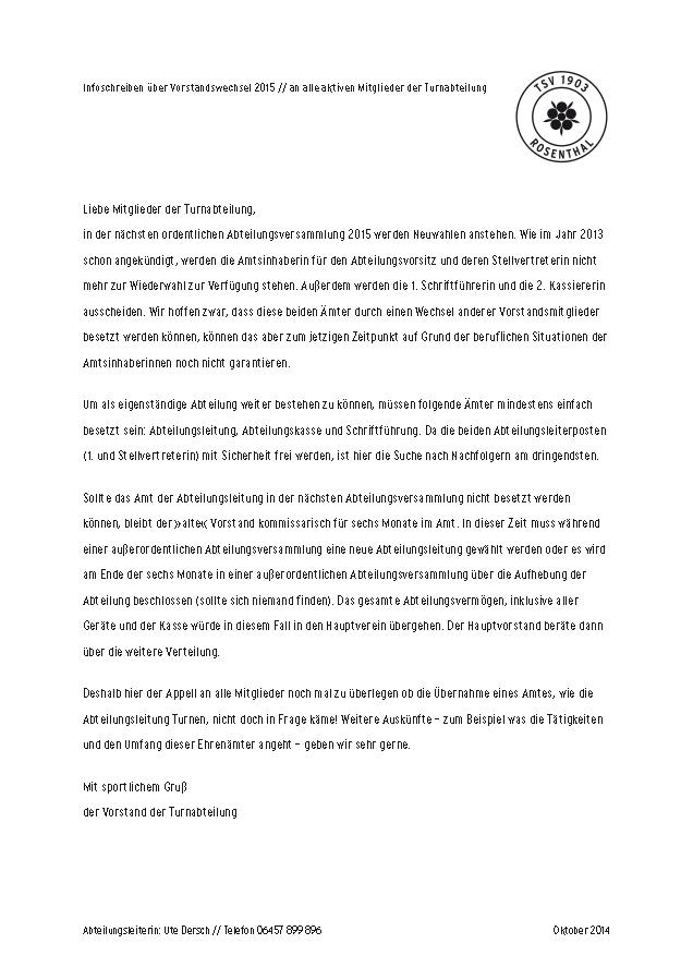 Infoschreiben Vorstandswechsel.indd